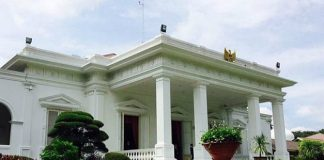Ilustrasi Istana Kepresidenan di lokasiibu kota baru.