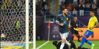 Lionel Messi Bawa Tim Tango Menang.
