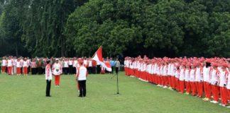Presiden Jokowi Lepas Kontingen SEA Games 2019 di Istana Bogor.