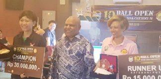 Ditta Juara Turnamen Biliar Putri Intan Jaya Carstensz 2019.