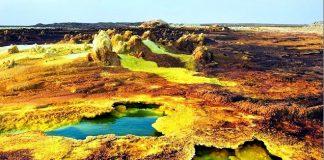 Gunung Dallol Tempat Paling Ekstrim di Dunia.