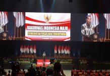 Presiden Joko Widodo memberikan sambutan dalam Rapat Koordinasi Nasional Indonesia Maju Pemerintah Pusat dan Forkopimda 2019.