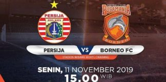 Jadwal Liga 1: Persija vs Borneo FC.
