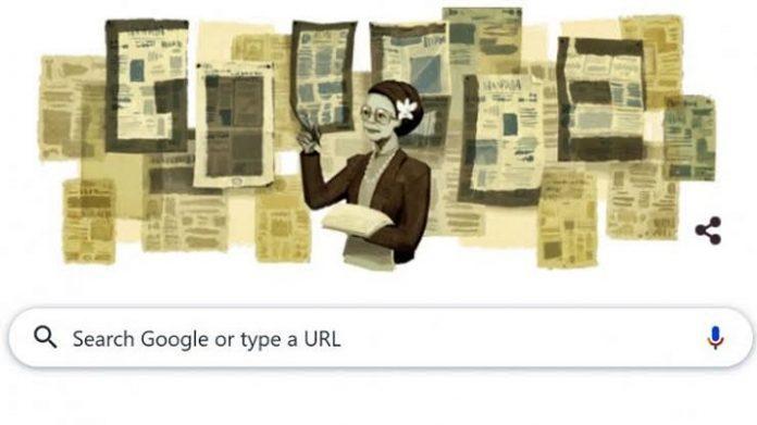 Ani Idrus Muncul di Google Doodle.