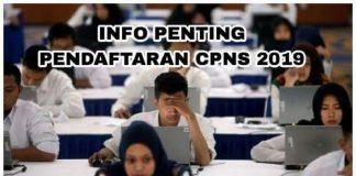 Info Pendaftaran CPNS 2019.