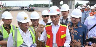 Presiden Joko Widodo berencana meresmikan ruas jalan tol Terbanggi Besar— Pematang Panggang—Kayu Agung di Provinsi Lampung.