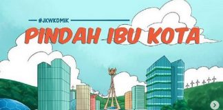 Unggahan Jokowi soal pemindahan ibu kota yang berupa komik.