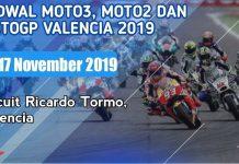 Jadwal MotoGP Valencia 2019.