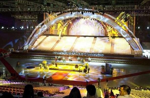 Upacara pembukaan SEA Games 2019 di Philippine Arena.