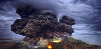 Ilustrasi Erupsi Gunung Merapi.