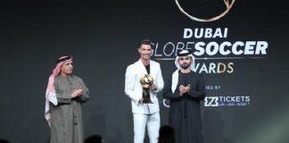 Malam penghargaan Globe Soccer Award 2019 yang berlangsung di Madinat Jumeirah Resort, Dubai, Uni Emirat Arab.