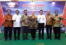 Misi dagang Jawa Timur di Kalimantan Timur diselenggarakan di Grand Ballroom Mahakam, Swiss Bell Hotel, Balikpapan.