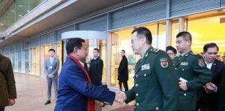 Menhan Indonesia Prabowo Subianto menemui Menhan China Wei Fenghe di Beijing.