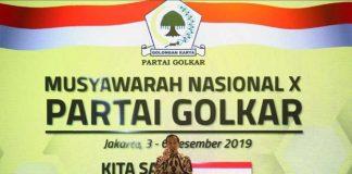 Presiden Joko Widodo (Jokowi) secara resmi membuka Musyawarah Nasional (Munas) X Partai Golkar.