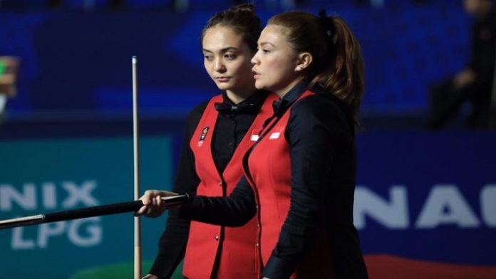 Duet Fathrah/Nony Lolos ke Final Bola 9 Ganda Putri.