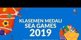 Klasemen Perolehan Medali SEA Games 2019.