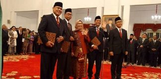 Presiden Jokowi Resmi Lantik Pimpinan KPK Jilid V.