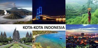 Ilustrasi Kota-kota di Indonesia.