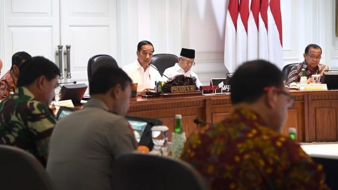 Presiden Jokowi Pimpin Ratas Bahas Penyelenggaraan PON XX di Papua.