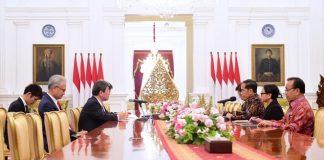 Presiden Jokowi Terima Kunjungan Kehormatan Menlu Jepang.