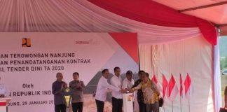 Presiden Jokowi Resmikan Terowongan Nanjung di Kabupaten Bandung.
