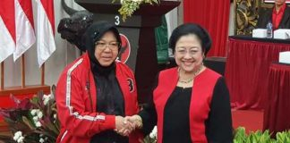 Wali Kota Surabaya Tri Rismaharini dan Ketua Umum PDI Perjuangan Megawati Soekarnoputri.
