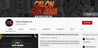 Channel YouTube Calon Sarjana Menghilang.
