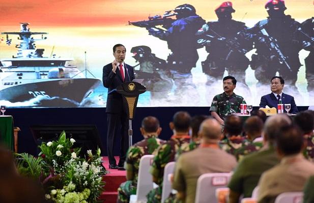 Presiden Jokowi Ingatkan TNI Soal Perkembangan Teknologi Pertahanan.