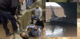 Penampakan F-16 Israel yang Terendam Banjir.