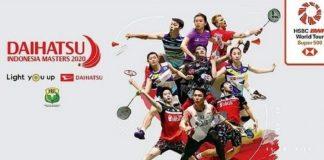 Jadwal Pertandingan Indonesia Masters 2020.