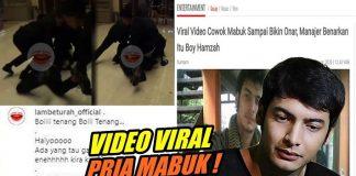 Viral, Pria Diduga Boy Hamzah Ngamuk Saat Mabuk.