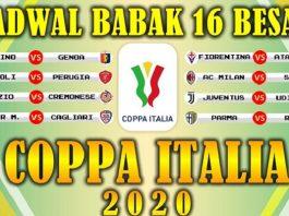 Hasil dan Jadwal 16 Besar Coppa Italia.