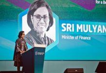Menteri Keuangan RI, Sri Mulyani.