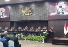 Sidang pleno Laporan Tahunan Mahkamah Konstitusi Tahun 2019.