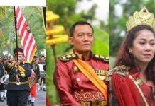 Raja dan Ratu dari Kerajaan Agung Sejagat di Purworejo, Jawa Tengah.