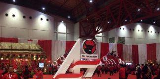 Prabowo dan 13 Menteri Lain Hadiri Pembukaan Rakernas PDIP.