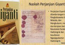 Naskah Perjanjian Giyanti.