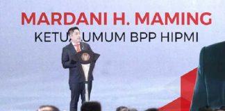 Ketua Umum Badan Pengurus Pusat (BPP) Himpunan Pengusaha Muda Indonesia (HIPMI), Mardani H. Maming.