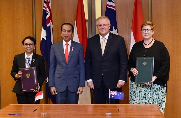 Presiden RI Joko Widodo (Jokowi) dan Perdana Menteri (PM) Australia Scott Morrison.