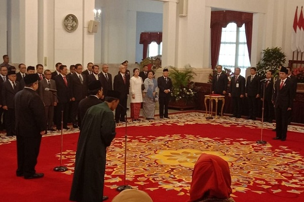 Presiden Jokowi Lantik Kepala BPIP dan Kepala BPKP.