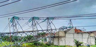 Tower SUTT PLN Rembang Roboh.