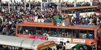 India Lockdown, Ratusan Ribu Pekerja Migran Eksodus.