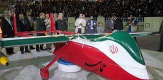 Ilustrasi Pesawat Tak Berawak Iran.