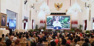 Buka Rapat Kerja Kemendag, Jokowi Minta Jajarannya Fokus Mitigasi Dampak Corona.
