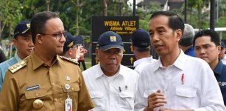 Gubernur DKI Jakarta Anies Baswedan dan Presiden Jokowi.
