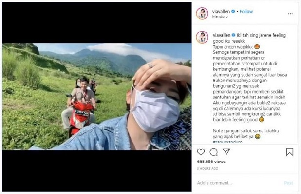 Viral, Video Via Vallen Sambangi Ranu Manduro.