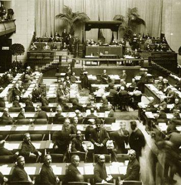 Ilustrasi Liga Bangsa-Bangsa.