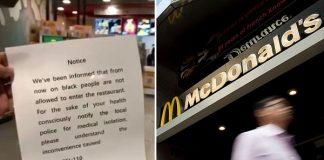Heboh, McDonalds China Melarang Masuk Orang Kulit Hitam.