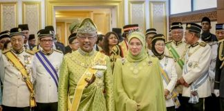 RajaMalaysiaYang di-Pertuan Agong AlSultan AbdullahRi'ayatuddin Al Mustafa Billah Shah.