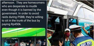 Viral, Pemudik Sembunyi di Bagasi Bus Demi Pulang ke Kampung.